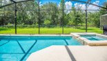 Villa rentals in Orlando, check out the West facing pool & spa get the sun all day