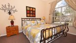 Bedroom 3 with king sized bed and views onto front gardens from Highlands Reserve rental Villa direct from owner