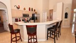 Fully fitted kitchen with breakfast bar with 4 bar stools from Highlands Reserve rental Villa direct from owner