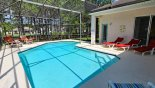 Spacious rental Highlands Reserve Villa in Orlando complete with stunning Sunny south west facing pool with woodland views