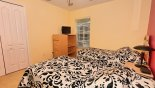 Twin bedroom 3 with LCD TV with this Orlando Villa for rent direct from owner