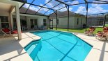 Orlando Villa for rent direct from owner, check out the Pool deck with 3 sun loungers and 3 reclining chairs for your sunbathing comfort