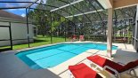 Pool deck gets the sun all day with this Orlando Villa for rent direct from owner