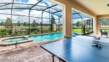 Table tennis under covered lanai from Windsor at Westside rental Villa direct from owner