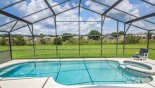 Spacious rental Sanctuary at Westhaven Villa in Orlando complete with stunning Beautiful pool overlooking the conservation area.