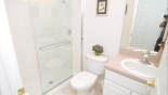 Villa rentals near Disney direct with owner, check out the Second Master bathroom with large walk-in shower