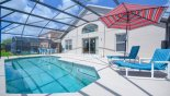 Spacious rental Emerald Island Resort Villa in Orlando complete with stunning Sunny pool deck with 2 sun loungers
