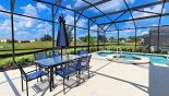 Orlando Villa for rent direct from owner, check out the Sunny pool deck gets sun all day - patio table with 6 chairs & parasol
