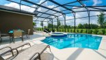 South facing pool & spa with open views from Castillo 3 Villa for rent in Orlando