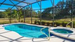 Spacious rental Solterra Resort Villa in Orlando complete with stunning Sunny pool & spa with conservation views
