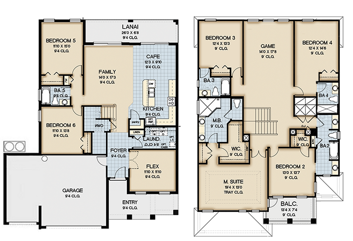 Coconut Palm 4 Floorplan