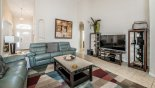 Villa rentals in Orlando, check out the Family room with large LCD TV & DVD