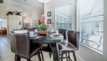 Villa rentals in Orlando, check out the Breakfast nook with views onto pool deck