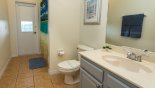 Spacious rental The Manor at West Haven Villa in Orlando complete with stunning Pool showing pool safety fence erected