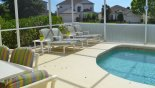 Villa rentals near Disney direct with owner, check out the Pool deck with 4 sun loungers