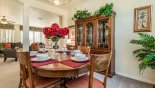 Dining area viewed towards family room with this Orlando Villa for rent direct from owner