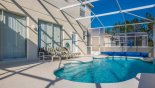 Sunny south facing pool deck from Santa Barbara 6 Villa for rent in Orlando