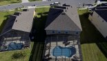 Orlando Villa for rent direct from owner, check out the Aerial view of the pool and cul-de-sac