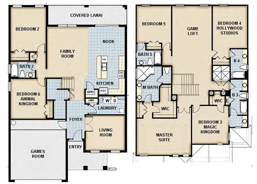 Coconut Palm 5 Floorplan