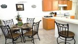 Breakfast nook & breakfast bar with this Orlando Villa for rent direct from owner