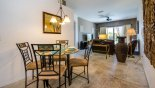 Villa rentals in Orlando, check out the Breakfast nook seating 4