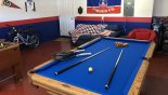 Villa rentals in Orlando, check out the Games room with newly installed slate bed pool table & table foosball