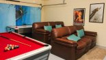 Games room & home cinema with pool table & air hockey - www.iwantavilla.com is the best in Orlando vacation Villa rentals