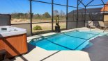 Large sunny pool deck with vast open views with this Orlando Villa for rent direct from owner