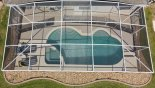 Pool deck with 4 sun loungers from Canterbury 8 Villa for rent in Orlando