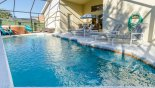 Spacious rental Orange Tree Villa in Orlando complete with stunning Pool deck with 4 sun loungers