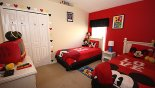 Orlando Villa for rent direct from owner, check out the Mickey and Friends twin room bedroom 4
