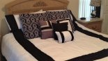 Villa rentals near Disney direct with owner, check out the New comforter blending in well.