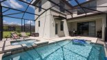 View of pool & spa from Alexander Palm 1 Villa for rent in Orlando