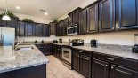 Villa rentals in Orlando, check out the Quality kitchen with granite counter tops & stainless steel appliances