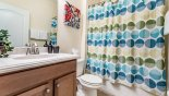 Bathroom 5 with bath & shower over from Paradise Palms Resort rental Villa direct from owner