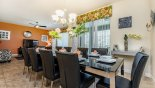 Villa rentals in Orlando, check out the Dining room with seating for 10 persons