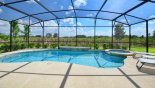 Orlando Villa for rent direct from owner, check out the Large pool and spa on extended pool deck with south facing lake views