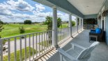 Front balcony with great views over the golf course with this Orlando Villa for rent direct from owner