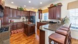 Villa rentals in Orlando, check out the Breakfast bar with seating for 4 persons