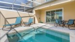 West facing plunge pool with 2 sun loungers - www.iwantavilla.com is the best in Orlando vacation Townhouse rentals