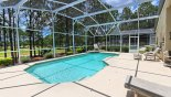 4 sun loungers for your comfort and views onto 10th tee with this Orlando Villa for rent direct from owner