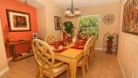 Spacious rental Highlands Reserve Villa in Orlando complete with stunning Dining room with seating for 6 persons