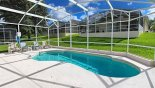 Villa rentals in Orlando, check out the Sunny east facing pool with 4 full sun loungers