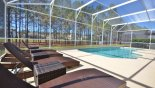 View of the pool from 4 gorgeous sun loungers from Highlands Reserve rental Villa direct from owner