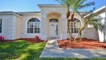 Entrance porch and front garden with this Orlando Villa for rent direct from owner