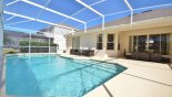 Orlando Villa for rent direct from owner, check out the View of pool towards covered lanai and patio