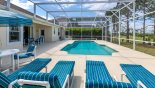 Orlando Villa for rent direct from owner, check out the Privacy hedging to both sides ensured a private pool deck