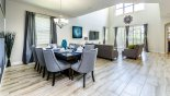 Villa rentals in Orlando, check out the View of dining area and adjacent family room