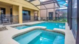Orlando Villa for rent direct from owner, check out the View of pool & spa towards covered lanai - pool safety fence erected