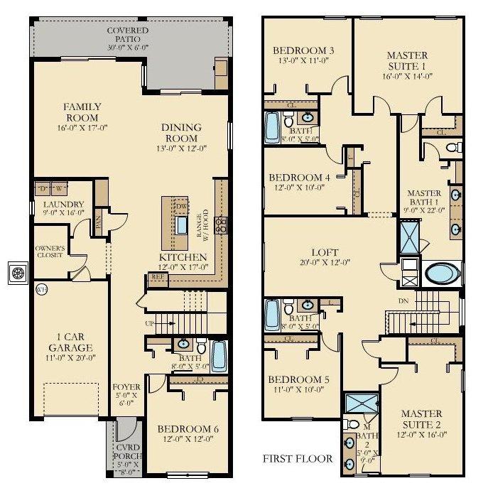 Majesty Palm 4 Floorplan